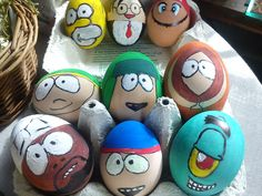 #easter #diy #madebyme #cute #eggs #southpark #homar #spongebob #supermario