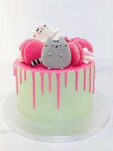 mariasweetcakery Pusheen Birthday Parties, Baby Birthday, Birthday Ideas, Pusheen Birthday, Cake Cookies, Cupcakes, Drip Cakes, Edible Art, Cake Creations