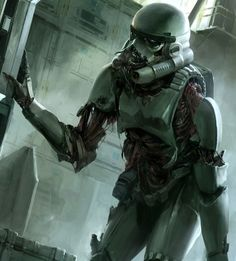 Funny pictures about Zombie Stormtrooper. Oh, and cool pics about Zombie Stormtrooper. Also, Zombie Stormtrooper photos. Star Wars Fan Art, Droides Star Wars, Dark Vader, Dark Sith, Stormtrooper Art, Marvel Comics, Cuadros Star Wars, Evil Dead, Star Wars Personajes