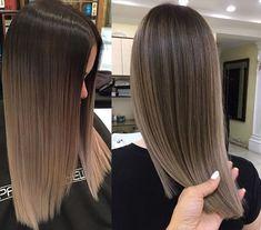 Balayage Straight Hair, Haircuts Straight Hair, Brown Hair Balayage, Brown Blonde Hair, Light Brown Hair, Hair Color Balayage, Light Hair, Hair Color For Black Hair, Ombre Hair