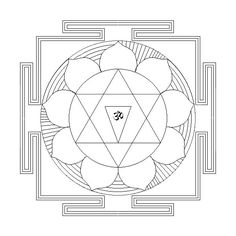 7 Best yantras images in 2015 | Mandala coloring, Coloring ...