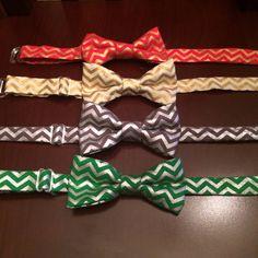 Chevron Bow Tie Metallic Bow Tie Baby Bow Tie by JujuBabyBoutique, $7.99