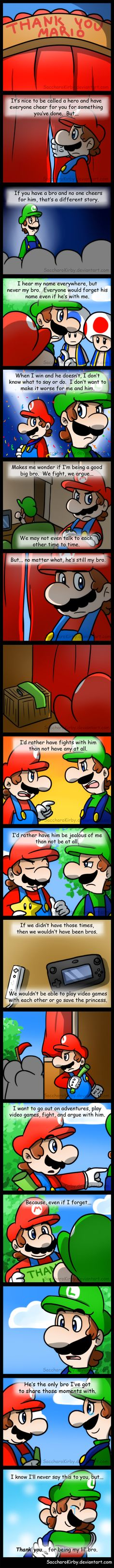 Geez, it's been a while since I've done a Mario comic haha~ So as you may have noticed, this isn't like my other comics (and definitely not as long lol! Seventeen panels are a joy to draw!). ...