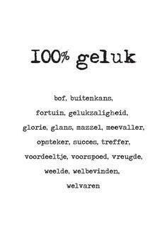 13-01 100% geluk