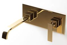 gessi gold faucet wall mounted - Google Search