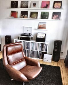 Vinyl record living room interior design lounge chair leather