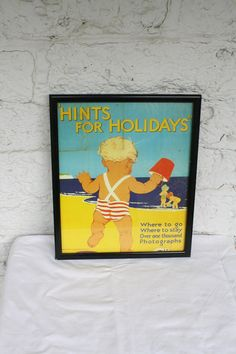 Childrens Room Lithographs / UK Vacation Poster / Childrens