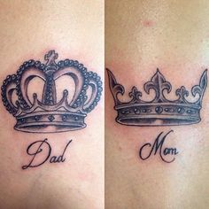 mom tattoo with crown mom and dad tattoo pinterest tattoo vorlagen tattoo ideen und vorlagen. Black Bedroom Furniture Sets. Home Design Ideas