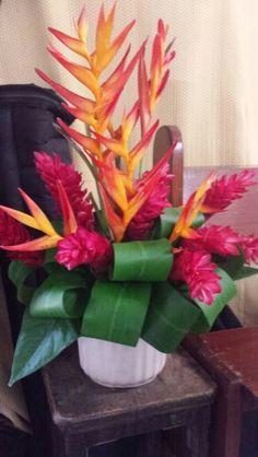 """""""Balisier"""". Local flower"""
