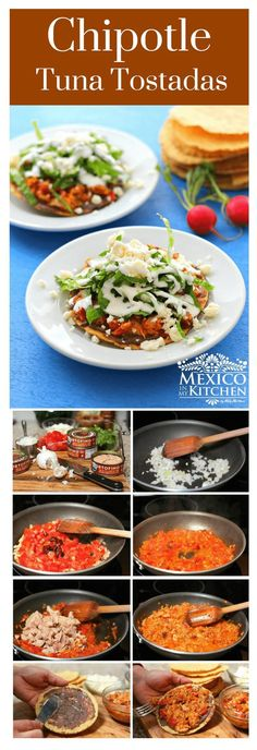 How to make Chipotle Tuna Tostadas │ We'll be using this tuna to make some scrumptious Chipotle Tuna Tostadas that are easy to make and can be enjoyed for lunch or dinner.#mexicanrecipes #mexicancuisine #food #fish #homecook