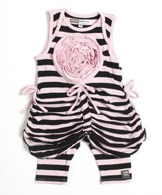 Look at this Pink & Black Sweet Pea Tunic & Leggings - Infant & Toddler on #zulily today!
