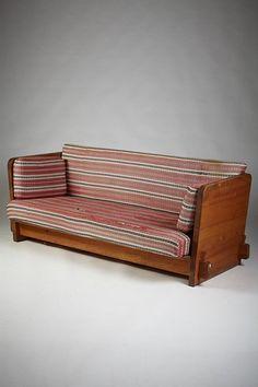 Axel Einar Hjorth; Pine Sofa for NK, Sweden, 1932.