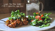 Darcie& Dishes: Lovin& Tex Mex Skillet // This simple, yet flavorful skillet is sure to become a family favorite. Trim Healthy Mama Plan, Trim Healthy Recipes, Thm Recipes, Mexican Food Recipes, Free Recipes, Mexican Meals, Mexican Dishes, Healthy Dinners, Diabetic Recipes