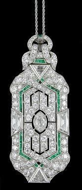 Fabulous Deco diamonds and emeralds.