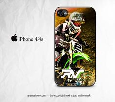 Ryan Villopoto RV2 Monster Energy MotoCross iPhone 4/4s Case Black | Dalmanaz - Accessories on ArtFire