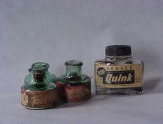 tinta para caneta-tinteiro 1950