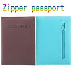 [Visit to Buy] High Quality Zipper Passport Holder  PU Leather Travel Passport Cover promotional passport case passport wallet protective #Advertisement