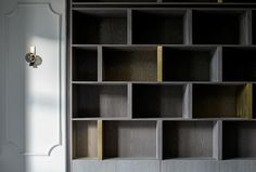 London Apartment by Roselind Wilson Design   Custom Shelving   Photo by Richard Waite