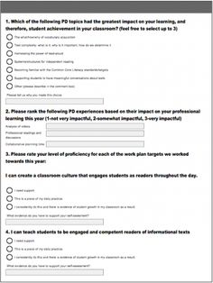 """""""Have You Asked For Feedback Lately?"""" -- survey for literacy coaches to give to staff at the end of the year to plan the pd for the following year"""