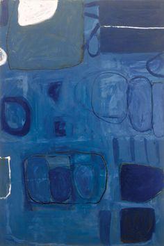 William Scott - Blue Painting, Oil on canvas, 183 x x in) Albright-Knox Art Gallery Abstract Words, Abstract Art, Abstract Paintings, Modern Art, Contemporary Art, Indigo, Im Blue, Blue Painting, Italian Artist