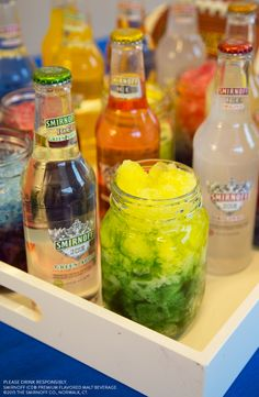 You know you're Gameday Ready when the snow is falling in the stadium and your drink. If your team made it to the Playoffs, blend up this delicious ice on ice drink with your colors.  Recipe: Food coloring mixed with your favorite Smirnoff Ice flavor over crushed Ice.
