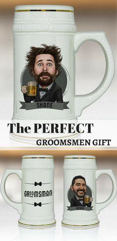Groomsmen Gift Personalized Ideas Best Man Idea Beer Stein Will You Be My Groomsman Proposal Mug
