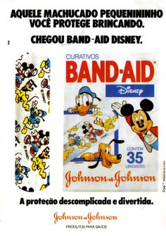 Band-Aid Disney (1994). Produto de uma época em que era mais divertido se esfolar nas brincadeiras de rua.