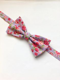 mens bow tie purple floral floral bow tie purpke by BeauBowTies