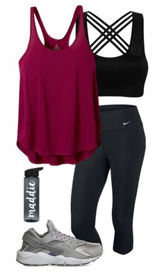 Designer Clothes, Shoes & Bags for Women Cute Sporty Outfits, Cute Workout Outfits, Workout Attire, Womens Workout Outfits, Nike Outfits, Teen Fashion Outfits, Outfits For Teens, Sport Outfits, Trendy Outfits