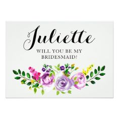 #rustic - #Will You Be My Bridesmaid? Customizable Card 5x7