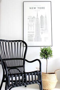 "Sisustus COCO: Täällä on menty ""tukka putkella"" eteenpäin. Ikea Chair, Wishbone Chair, My Dream Home, My House, House Plans, Sweet Home, New Homes, Home And Garden, House Design"