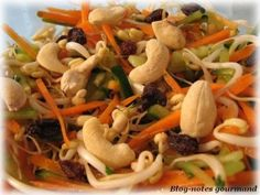 Salade croquante aux germes de soja frais, Recette Ptitchef