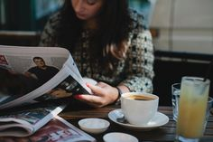Slow mornings spent over a newspaper + coffee. Repinned via flickr.