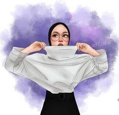 Hijab Anime, Anime Muslim, Girl Cartoon, Cartoon Art, Hijab Drawing, Girly M, Hijab Cartoon, Islamic Girl, Hijabi Girl