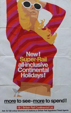 British Rail, 1967 - original vintage poster l Posters Uk, Railway Posters, Poster Prints, Vintage Advertisements, Vintage Ads, Advertising Poster, Poster Ads, British Rail, Vintage Travel Posters