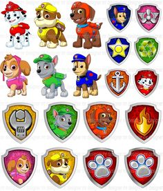 Rubble Paw Patrol, Sky Paw Patrol, Paw Patrol Cake, Paw Patrol Party, Paw Patrol Birthday Theme, Boy Birthday, Imprimibles Paw Patrol, Kids Craft Box, Diy Birthday Decorations