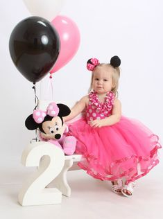Minnie Mouse Dress In Ruffles and Polka by SignatureCollectionB
