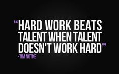 Hard work beats talent when talent doesn't work hard Fitness Inspiration motivation quote Work Motivational Quotes, Inspirational Quotes Pictures, Great Quotes, Quotes To Live By, Me Quotes, Hard Quotes, Motivational Wallpaper, Funny Quotes, Hustle Quotes