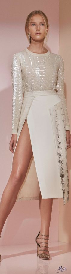 Pre-Fall 2016 Prabal Gurung. This house is showing a lot of all-over white, for fall.