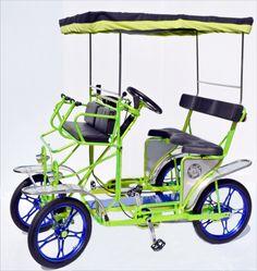 surrey bicycle, 4 wheel bike, surrey mag wheels, 4 person bike, 2 person cycle