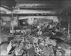 The Cocoanut Grove nightclub fire was the worst fire disaster in American history. It occurred November, 1942 in Boston, MA. 492 people were killed and 100s more injured. The nightclub was filled to double its legal capacity when it caught fire. It was the result of a busboy using a match to replace a burned out light bulb. The fire took off in seconds. Many exits were blocked or locked, the doors opened inwards, victims were crushed in the revolving doors. Today it's a parking lot.