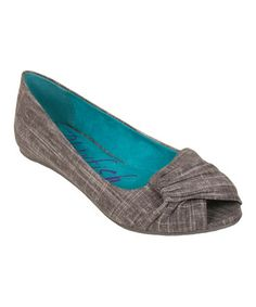 Another great find on #zulily! Steel Gray Cozumel Nia Peep-Toe Flat #zulilyfinds