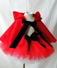 Little Red Riding Hood Tutu Costume Set. $65.00, via Etsy.