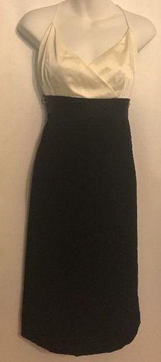 NWT $168 Ann Taylor Size 14 Cocktail Dress Black and Eggshell Acetate Blend #AnnTaylor #EmpireWaistSundressWigglePencilLittleBlackDressCocktail #Cocktail