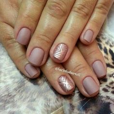 Blush and Gold nails