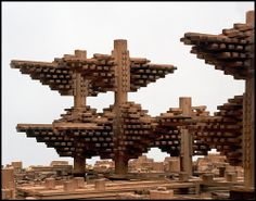 "arata isozaki - ""cluster in the air, shibuya, tokyo"", (model from before 1982)"