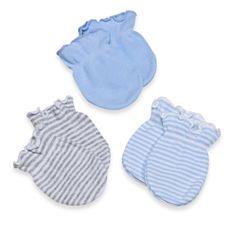 Carter's® Multi-Light Blue & Grey 3-Pack Mittens