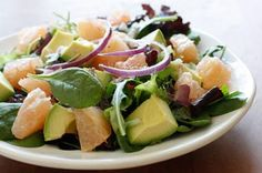 smart balanc, healthier recipes, avocado grapefruit, hearthealthi recip, recip salad