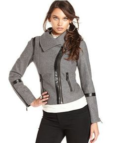 b9520ff2670 Grey Motorcross Jacket Blazer Jackets For Women