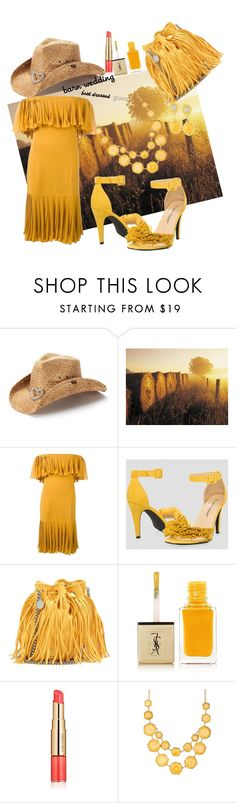 """barnwedding"" by marionmeyer ❤ liked on Polyvore featuring Peter Grimm, Jean-Louis Scherrer, Ashley Stewart, STELLA McCARTNEY, Yves Saint Laurent, Estée Lauder, Natasha Accessories, Gurhan, bestdressedguest and barnwedding"